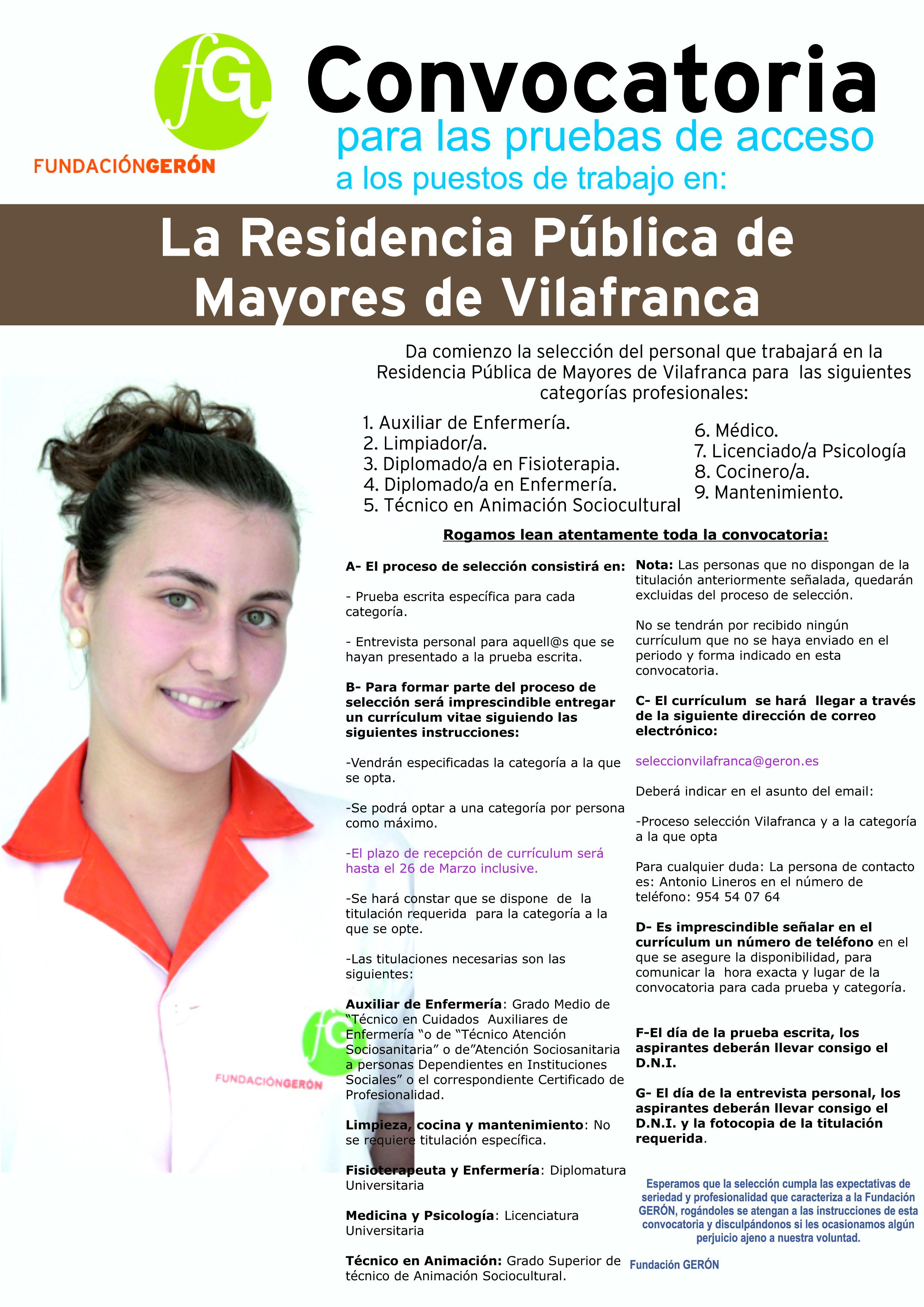 Residencia de mayores de Vilafranca del Cid- Selección